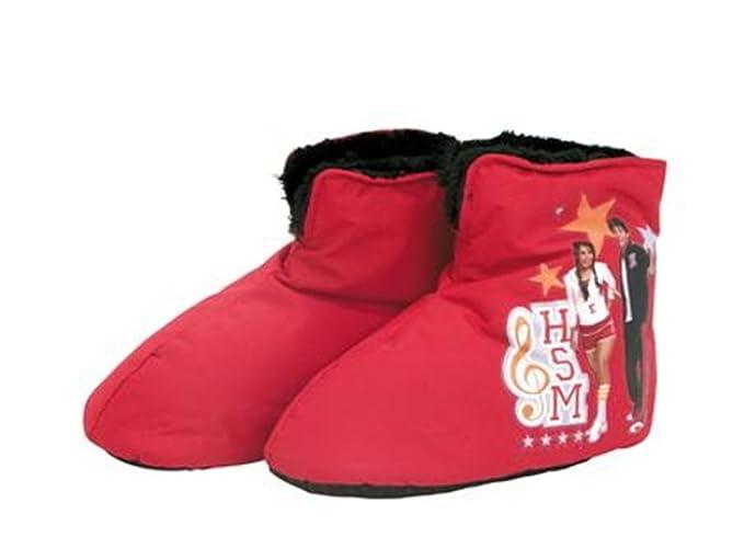 DISNEY - Zapatillas de estar por casa de Poliéster para niña rojo rojo Medium: Amazon.es: Ropa y accesorios