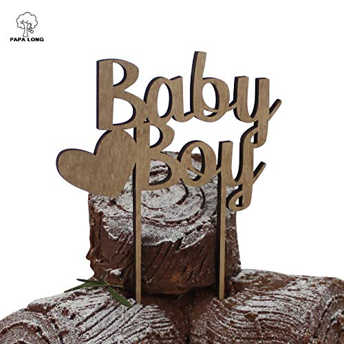 (PAPALONG RUSTIC BABY BOY CAKE TOPPER FOR BABY)