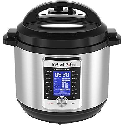 Instant Pot Ultra Multi- Use Programmable Pressure Cooker, Slow Cooker, Rice Cooker, Yogurt Maker, Cake Maker, Egg Cooker, Sauté, Steamer,