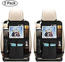 Auto Rückenlehnenschutz, opamoo 2 Stück Auto Rücksitz Organizer für Kinder, Große Taschen und iPad-/Tablet-Fach,...