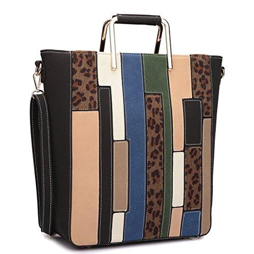 dasein-womens-color-block-satchel-tote-shoulder-bag-large