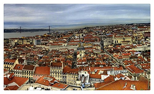 Portugal Houses From above Lisbon Cities travel sites Postcard Post card