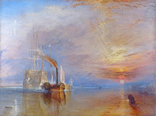 The Fighting tEMERAIRE, Tugged To Her Last Berth To Be Broken Up, 1838 - By Joseph Mallord - Giclee Canvas Prints 40