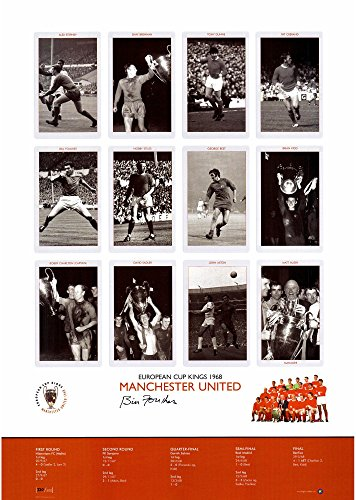 """Bill Foulkes Manchester United Autographed 16"""" x 23"""" 1968 Euro Cup Kings Photograph - ICONS - Fanatics Authentic Certified"""