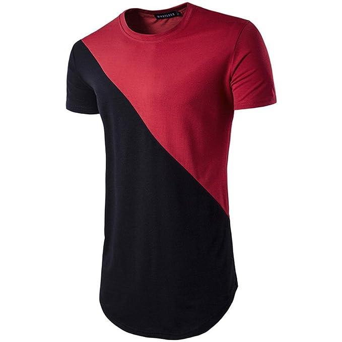 HUI Camisa t-Shirt tee Tops Blusa Hombre Personalizada Casual Manga Corta, Hombres Temporada de Verano Modelos explosivos Péndulo Largo Casual Tops: ...