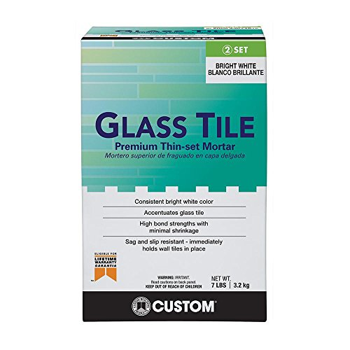 Custom Building Products 7 lb. Glass Tile Premium Thin-Set Mortar White (Best Thinset For Glass Tile)