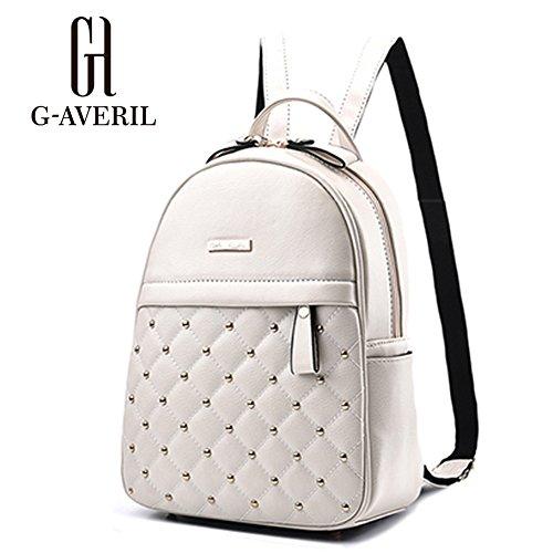 Femmes à Sacs pour Mignonne Cartable cuir AVERIL Mode dos en Blanc G Décontractée Exw0qa1n5