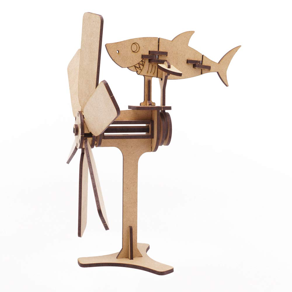 Mize Daddy Papa Shark B07MXGZJ3R Toys Mize 木製オートマタ ワニグ組み立てキット Daddy 機械式パズルギフト 子供用 B07MXGZJ3R, 京阪園芸ガーデナーズ:3e4b666e --- m2cweb.com
