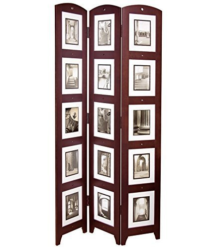 (nexxt Triple Panel Floor Photo Screen, 33 by 64.5-Inch, Holds 15 - 5 by 7-inch Photos, Espresso by)