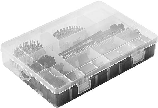 1450 Piezas Kit de Conectores de 2,54 mm PCB Pin Envases Caja para Arduino Dupont Pitch Terminal/Casa/Pin Conector: Amazon.es: Electrónica