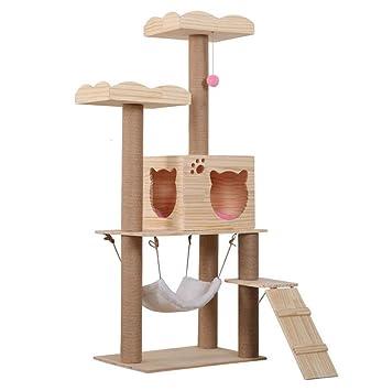 Torre del árbol del Gato Condominio Poste De Rasguño para Gatitos Juego De Casa De Mascotas: Amazon.es: Hogar