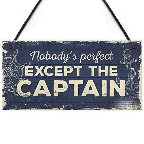 Meijiafei Nautical Sign Captain Bar Pub Bathroom Man Cave Kitchen Plaque Fishing Boat Gift for Men 10