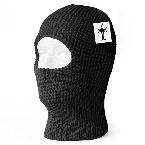 TopHeadwear One Hole Ski Mask (20 Different Colors) - Black