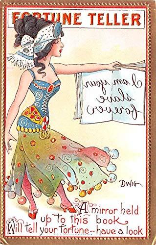 Artist Signed Dwig Dwiggins Post Card Series no. 55 Unused