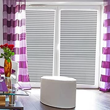 Greenforest Fenster Jalousie Weiß Streifen Büro Statische Selbstklebende  Selbst Deko Fenster Tint