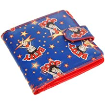 Betty Boop Lenticular Wallet with Coin Compartemt, Changing Image Pattern , Blue