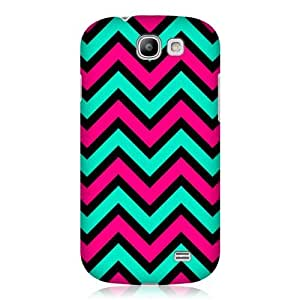 AIYAYA Samsung Case Designs Pink And Teal In Black Neon Chevron Protective Snap-on Hard Back Case Cover for Samsung Galaxy Express I8730