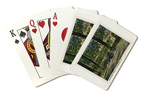 (Gettysburg, Pennsylvania - View of Spanglers Spring (Playing Card Deck - 52 Card Poker Size with Jokers))