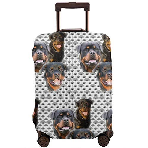 Spandex Travel Luggage Cover, Suitcase Protector Bag Fits 25-28 Inch Luggage Rottweilers And Thistles