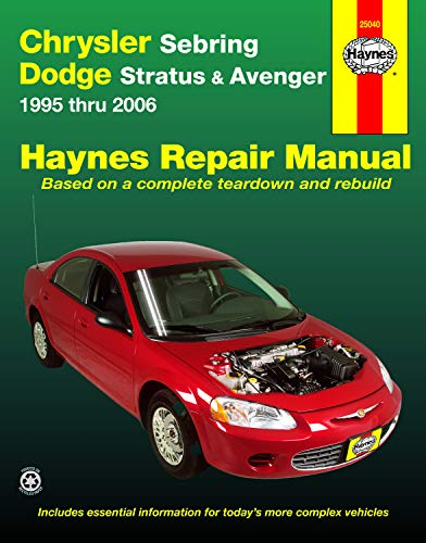 Chrysler Sebring & Dodge Stratus & Avenger (95-06) Haynes Repair Manual (Does not include information specific to Flexible Fuel Vehicles. Includes coverage apart from specific exclusion noted)