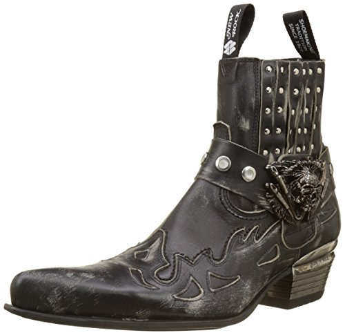 New Rock Men M-wst045-s1 Cowboy Boots, Black Black (Black 001)