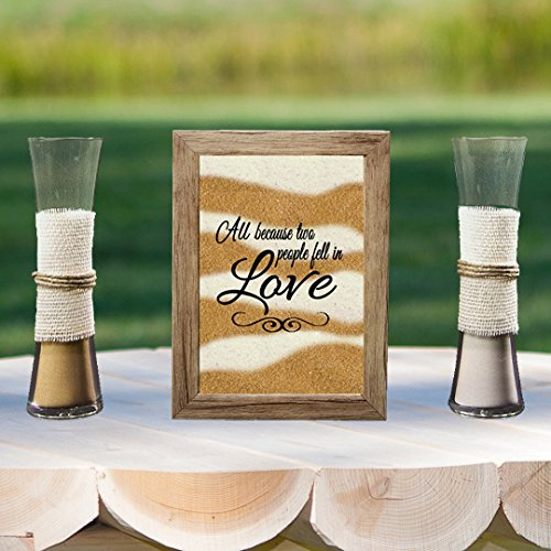 Rustic Barn Wood Wedding Unity Sand Ceremony Frame Set - All Because Two People Fell in Love]()