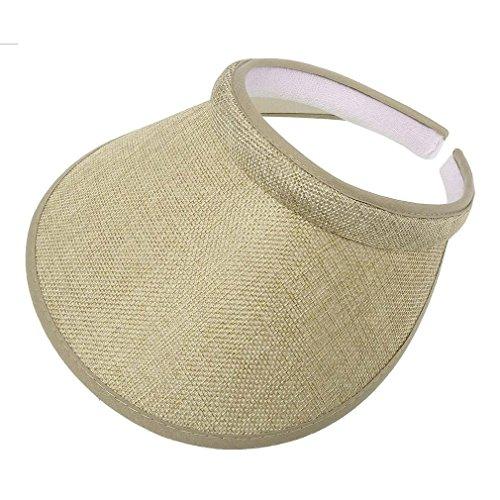Bersun Natural Ladies Brushed Cotton Twill Clip On Sun Visor Hat Cap