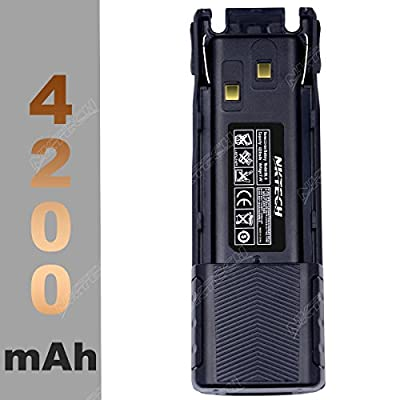 NKTECH BL-8 7.4V 4200mAh Extended Li-ion Battery For BaoFeng UV-82 UV-82HP UV-8D UV-82L UV-82X UV82C Two Way Radio Walkie Talkie Transceiver Batteries Accessories Warranty by NKTECH