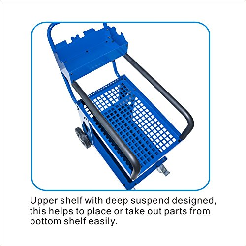 SOLARY PS308 Capacity Service Cart Heavy Duty Mobile Storage Cart Industrial Commercial Service Cart 3 Trays Cart by Solary (Image #4)