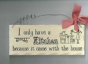 Cocina de madera signo, sólo Tengo una cocina porque vino con la casa signo