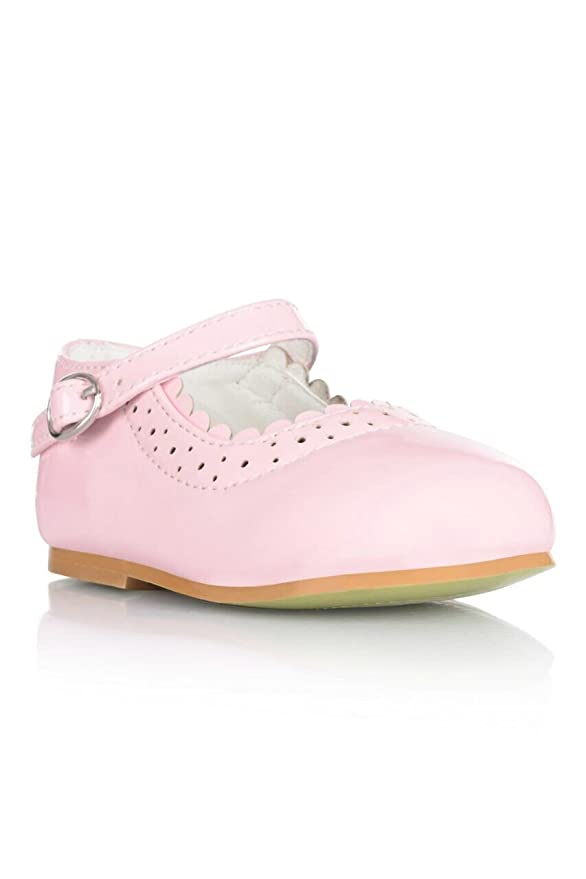 89d65434588a0d Girls Christening Special Occassion Flower Girls Patent Hardsole Shoes   Amazon.co.uk  Shoes   Bags