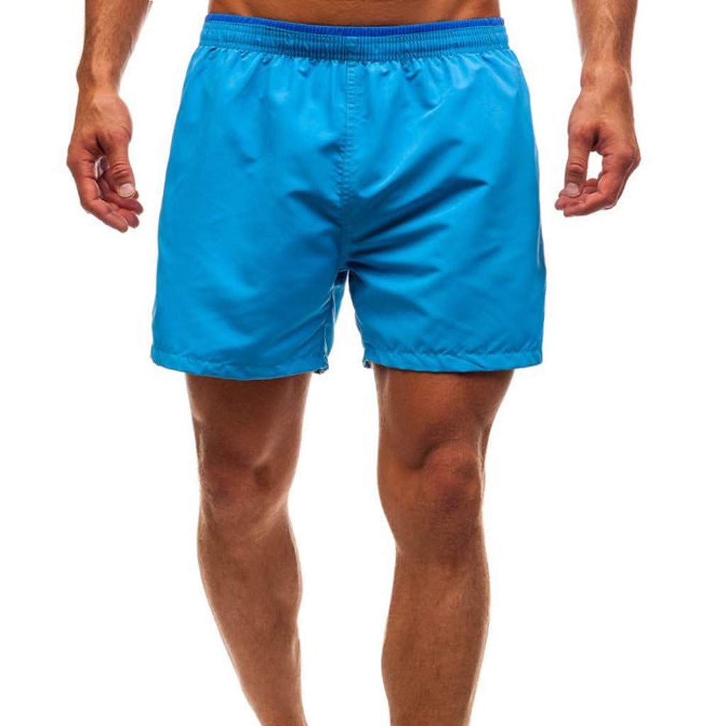 b745842839 Wojin Men's Beachwear Surf Trunks Striped Printed Fast Dry with Side Pocket:  Amazon.in: Clothing & Accessories