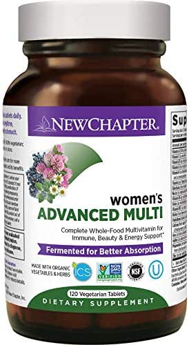 New Chapter Women's Multivitamin, Every Woman, Advanced Women's Multi, Fermented with Probiotics + Iron + Vitamin D3 + B Vitamins + Organic Non-GMO Ingredients - 120 ct (Packaging May Vary)