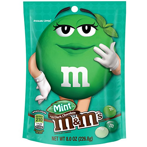 M&M'S Mint Dark Chocolate Candy 8-Ounce Bag