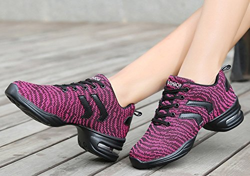 Dance JiYe Sports by Cushion Shoes Air Outdoor Purple 8US Sneakers Soft Women Women's qqwrAES