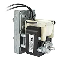 uxcell Pellet Stove Auger Motor 4.8RPM Counterclockwise Gear Motor AC 110V to 120V 60Hz 0.53A D-shaped Shaft Pole Universal Motor