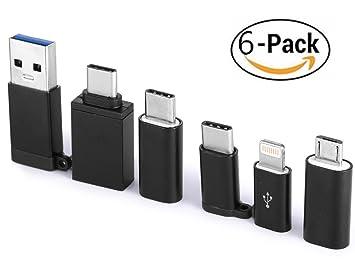 Adaptador USB-C a USB 3.0 [6-PACK], CableCreation USB Tipo