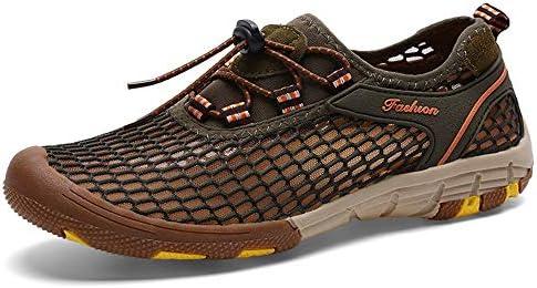 HYH 大きいサイズの夏のアウトドアスポーツメッシュゴム素材上流の靴滑り止め水遊び通気性速乾性ビーチシューズカジュアルシューズ(インクグリーン) いい人生 (色 : Green, Size : US7.5)