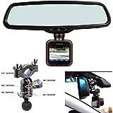 AccessoryBasics Car Rearview Mirror Mount Kit for Garmin Dash Cam 10 20 25 Driving Recorder