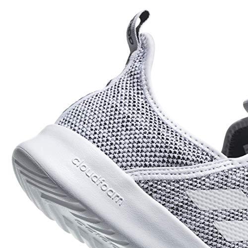 adidas Women's Cloudfoam Pure Running Shoe, white/white/black, 7 Medium US