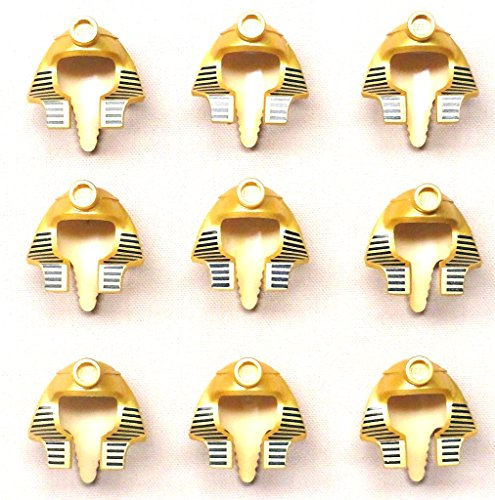 [Lego Mummy Pharaoh Minifig Headgear Headdress Hat Metallic Gold x9 Loose] (Pharaoh Headdress)