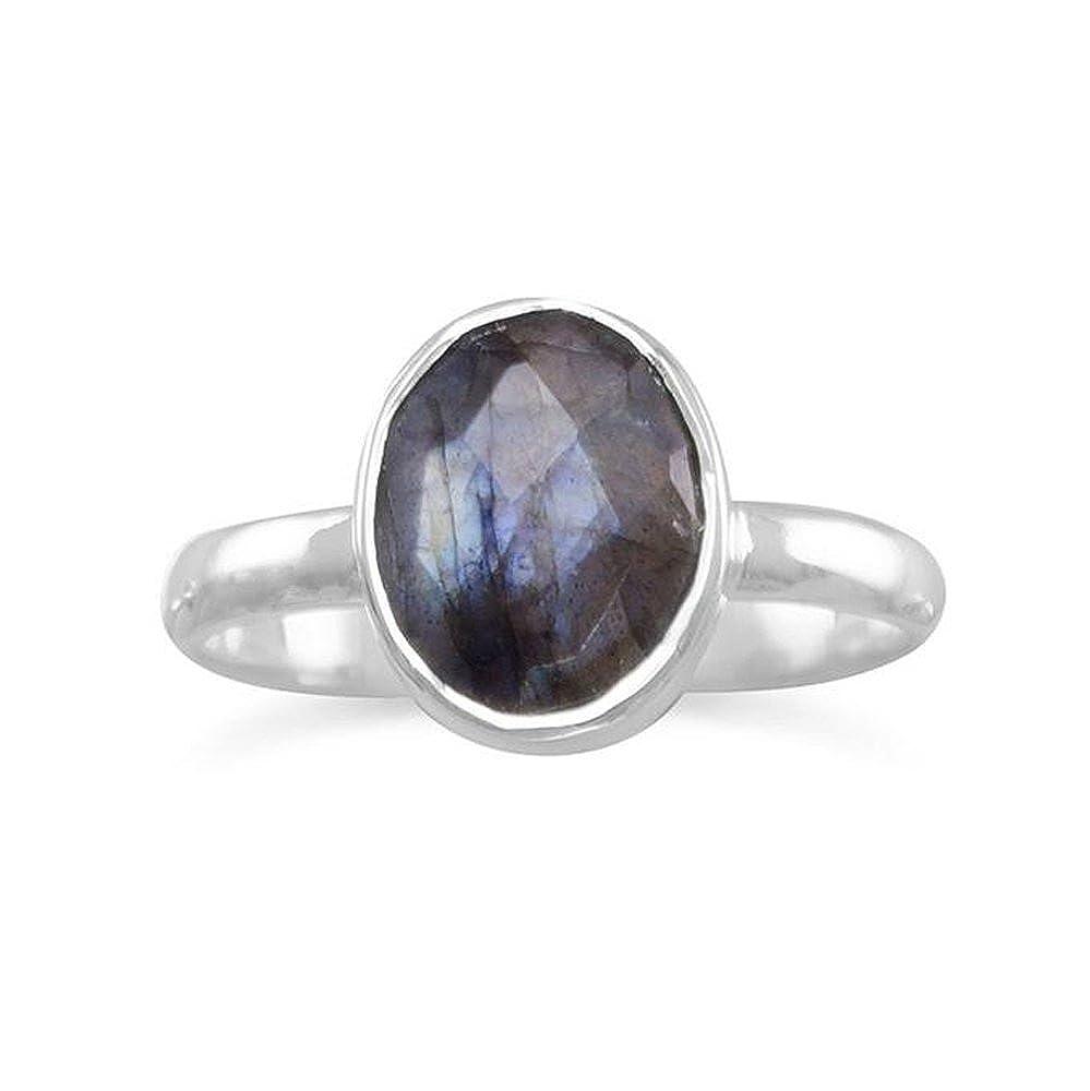 Nathis Labardorite Stackable Gemstone Ring