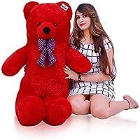 ATIF Soft Toys Long Soft Lovable hugable Cute Giant Life Size Teddy Bear 3 Feet 90 cm RED /and Wife/BOY Girl/ Gift