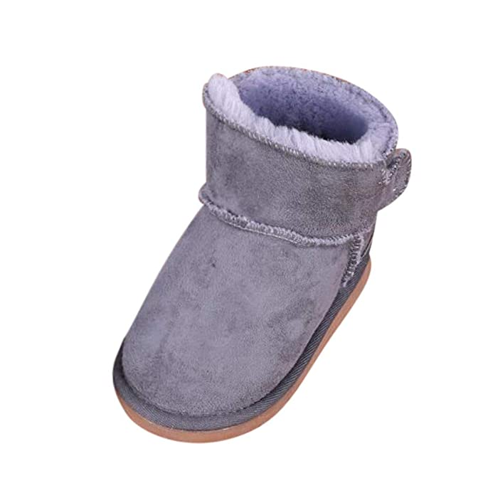 NUSGEAR Stivali da Neve Ragazzi Ragazze Carino Morbide Fodera Calda Stivali Scarpe di Cotone Piatto Pelliccia Stivali Impermeabili Per Bambini Scarpe