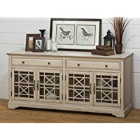 Jofran 675-9 Craftsman Media Unit Television Stand, 70, Antique Cream