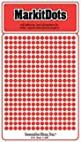 """Small 1/8"""" removable Mark-it brand dots for maps, reports or projects - red"""