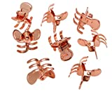 L. Erickson Mini Metal Jaw Clip & Go 8-Pack - Rose Gold