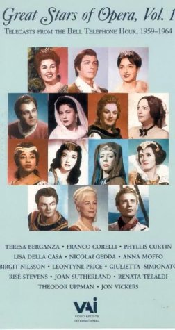 Great Stars of Opera 1: Hlts Bell Tel Hr Ser [VHS]