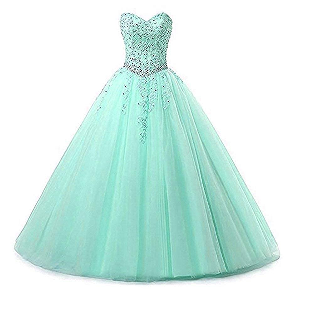 Style2mint Liaoye Women's Sweetheart Appliques Quinceanera Dress Tulle Wedding Ball Gown