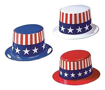 bda7de78fbb01 Amscan - Sombreros de plástico con tema Estados Unidos